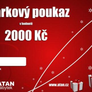 ATAN Vánoční dárkový poukaz v hodnotě 2000 Kč Tištěný