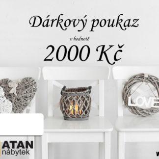 ATAN Dárkový poukaz v hodnotě 2000 Kč Tištěný