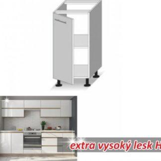Tempo Kondela Kuchyňská skříňka LINE WHITE D40 + kupón KONDELA10 na okamžitou slevu 3% (kupón uplatníte v košíku)