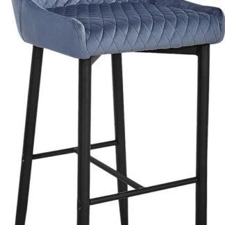Casarredo Barová židle COLIN B H-1 VELVET šedá/černá