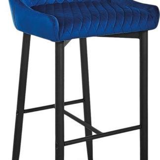 Casarredo Barová židle COLIN B H-1 VELVET granátová/černá
