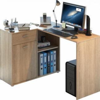 Tempo Kondela Rohový PC stůl KALIMERO - dub sonoma + kupón KONDELA10 na okamžitou slevu 3% (kupón uplatníte v košíku)