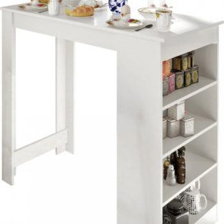 Tempo Kondela Barový stůl Austen - bílá + kupón KONDELA10 na okamžitou slevu 3% (kupón uplatníte v košíku)