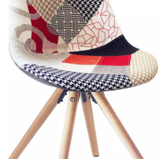 Tempo Kondela Jídelní židle GLORIA - patchwork + kupón KONDELA10 na okamžitou slevu 3% (kupón uplatníte v košíku)