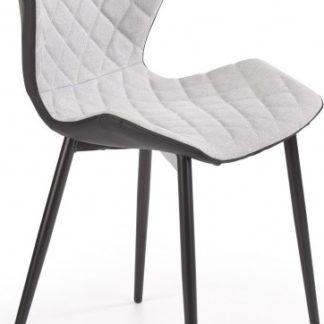 Halmar Jídelní židle K389 - světle šedá/černá