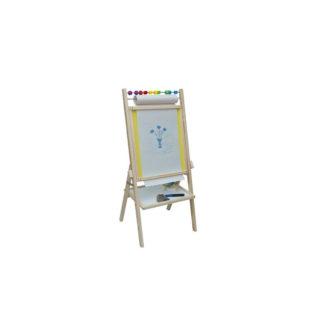 3toysm Dětská magnetická tabule žlutá
