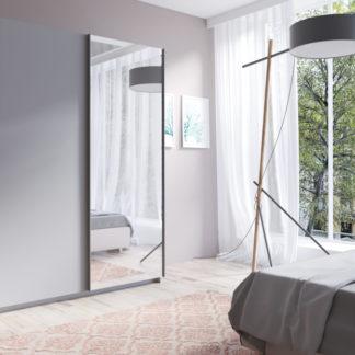 Prostorná šedá šatní skříň Tithali 150 cm