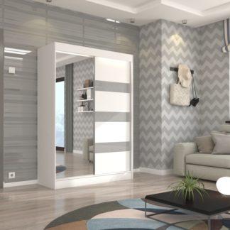 Skříň s posuvnými dveřmi bílá 150 cm Burgos