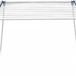 Tempo Kondela Vysouvatelný sušák na prádlo ANDRO - bílá / šedá + kupón KONDELA10 na okamžitou slevu 3% (kupón uplatníte v košíku)