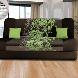 Idea Pohovka VICTORIA zelené květy