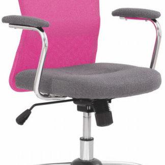 Halmar Dětská židle Andy - šedá/růžová