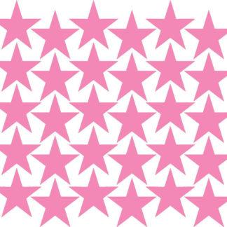 Pastelowelove Samolepky na stěnu hvězdičky - růžová - 30 kusů