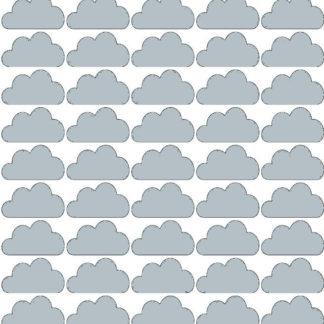 Pastelowelove Samolepky na stěnu mráčky - šedá - 45 kusů