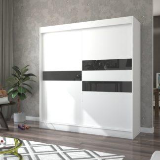 Velká bílá skříň do pokoje  200 cm Irun