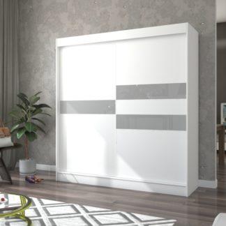 Prostorná posuvná skříň bílá 200 cm Paterna